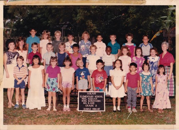 Second Grade Class photo 1986