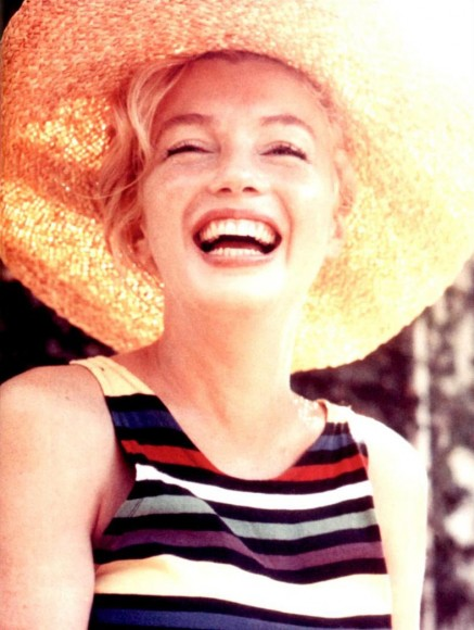 Why everyone needs a big brimmed straw hat. Marilyn did.