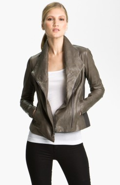 Vince Leather Scuba jacket in Espresso