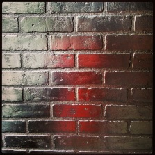 Isn't this foiled brick amazing? So glam. I want.