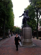 Next to Paul Revere's statue