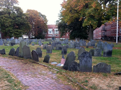 Old cemetery next to Old Church