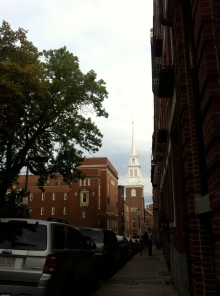The Old church, the oldest in Boston