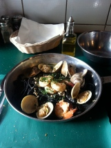 Fresh Catch with their house-made squid ink pasta