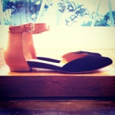 Black & tan pointy toe DV by Dolce Vita shoes