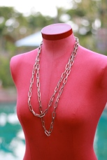 Gold double chain necklace $14