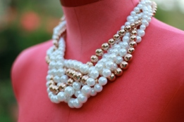 Braided pearl necklace $8