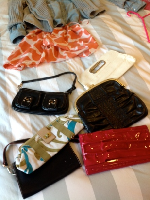 clearing out old styles of purses too
