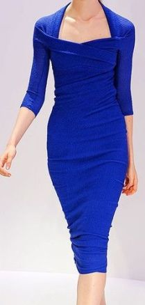 body con dress blue