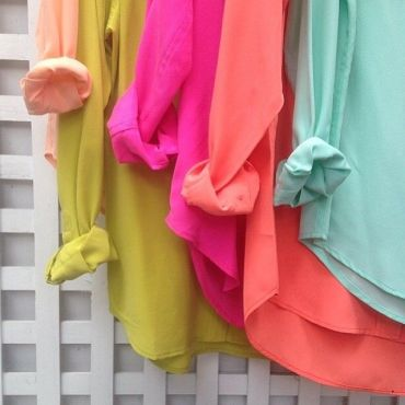colored silk shirts