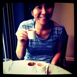 Enjoying Drinking chocolate at Cacao