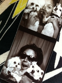 Photobooth fun in the lobby of the Ace Hotel