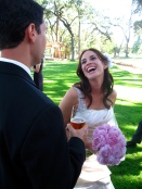 the blushing bride Debbie