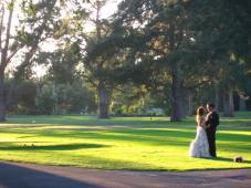 Photos for the couple were shot while guests enjoyed cocktails at sunset