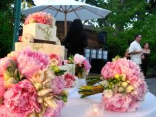 Peonies were overflowing and gorgeous for this August wedding