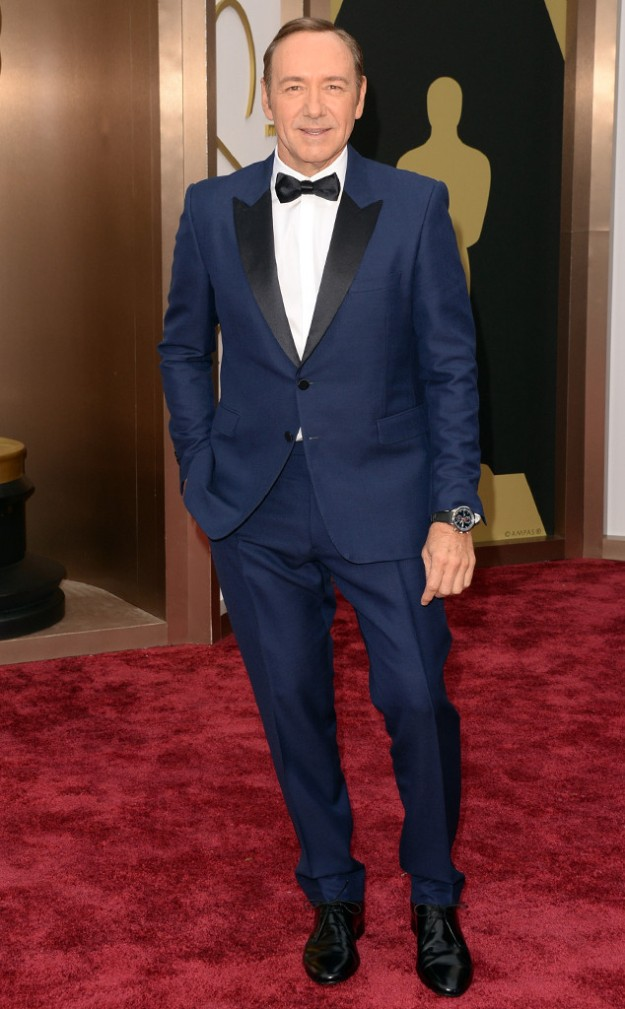 Kevin Spacey makes Navy glam.