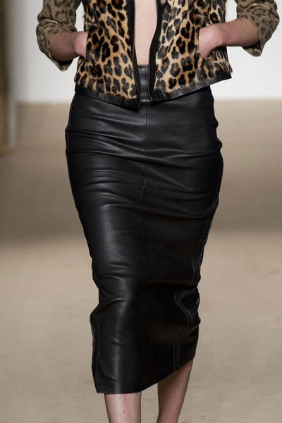 Leather Pencil Skirt With Pockets - Dress Ala