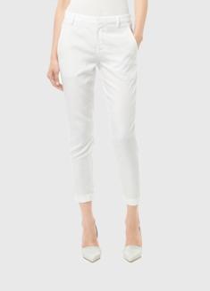 Tailored trouser skinny capri white
