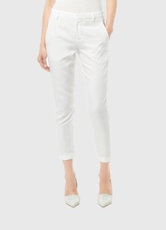 Tailored trouser skinny capri white