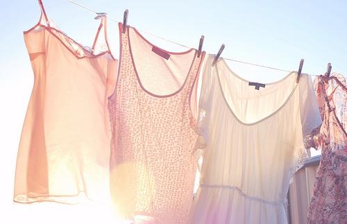 hanging in sun