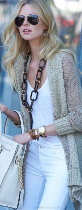 long necklace creates length