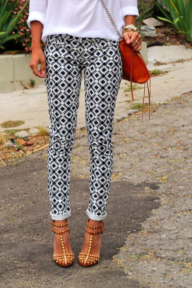 Add balance with patterned pants